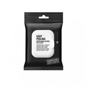 Comodynes Easy Peeling Exfoliating Action Face & Body Salvete ar pīlinga efektu sejai un ķermenim 20vnt