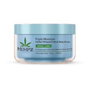 Hempz Triple Moisture Herbal Whipped Creme Body Scrub Ķermeņa skrubis 176ml