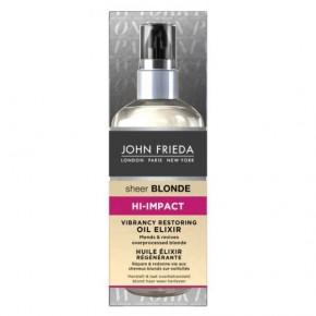 JOHN FRIEDA Sheer Blonde Hi-Impact Oil Elixir Atjaunojoša matu eļļa - eliksīrs 100ml