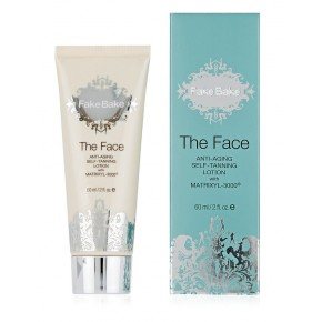 Fake Bake The Face Anti-ageing Self-tan Lotion with Matrixes 3000 Pret-novecošanās sejas losjons 60ml