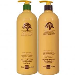 Arganmidas Moroccan Argan Oil Clear Hydrating Šampūns un kondicionieris