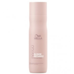 Wella Cool Blonde Recharge Shampoo Krāsu atsvaidzinošs šampūns vēsam blondam tonim 250ml
