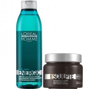 L'Oréal Professionnel Komplekts: Homme Energic Šampūns un pasta matu (250+150ml) 250ml+150ml