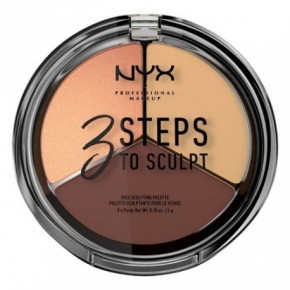 NYX Professional Makeup 3 Steps to Sculpt Face Sculpting Palette Sejas konturēšanas palete 15g