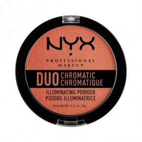 NYX Professional Makeup Duo Chromatic Illuminating Powder Izgaismojošs pūderis 6