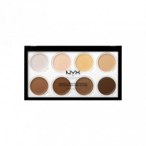 NYX Professional Makeup Highlight & Contour Cream Pro Palette Konturēšanas palete 16g