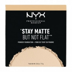 NYX Professional Makeup Stay Matte Not Flat Pwdr Fndtn Tonālā krēma pūderis 7.5g