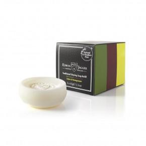 Edwin Jagger Traditional Shaving Soap Refill Skūšanās ziepju komplekts: alvejas, sandālkoka, laimas un granātābola aromātu