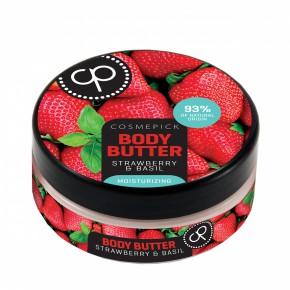 Cosmepick Body Butter Strawberry & Basil Ķermeņa sviests ar zemenēm un baziliku 200ml