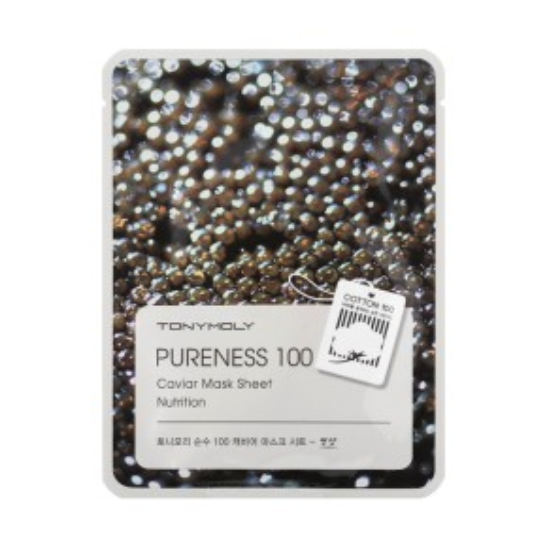 TONYMOLY Pureness 100 Caviar Mask Sheet Sejas maska ar ikriem 21ml