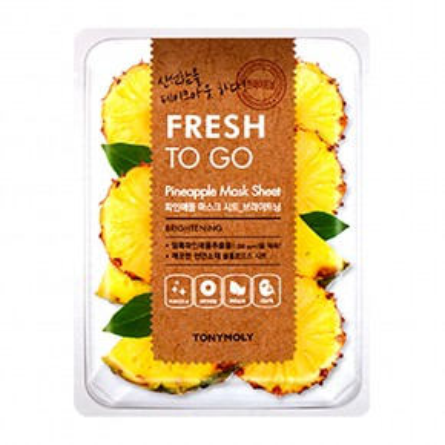 TONYMOLY Fresh To Go Pineapple Mask Sheet Sejas maska ar ananāsu ekstraktu 22g