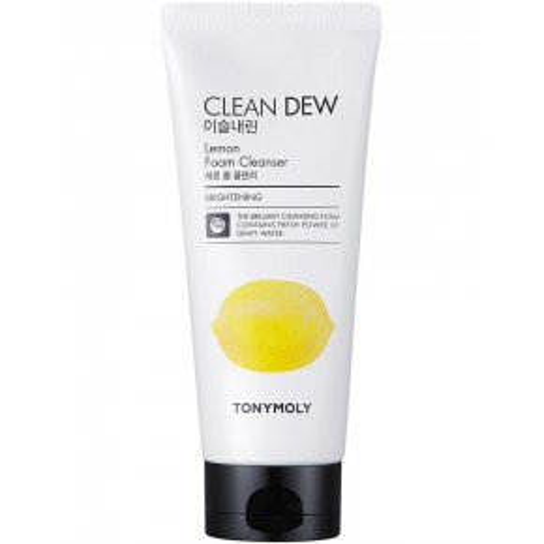 TONYMOLY Clean Dew Lemon Foam Cleanser Atsvaidzinošs sejas tīrīšanas līdzeklis ar citronu 180ml