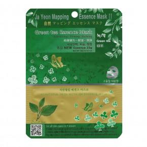Ja Yeon Mapping Green Tea Essence Mask Sejas maska ar zaļu tēju 24g