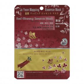 Ja Yeon Mapping Red Ginseng Essence Mask Sejas maska ar sarkano žeņšeņa ekstraktu 24g