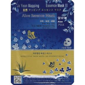 Ja Yeon Mapping Aloe Essence Mask Sejas maska ar alveju 24g