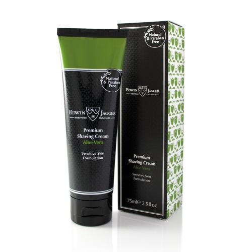 Edwin Jagger Premium Shaving Cream Skūšanas krēms jūtigai ādai ar alvejas aromātu 75ml