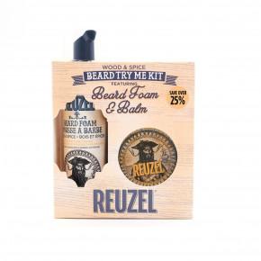 Reuzel Wood & Spice Beard Try Me Kit Komplekts 1 Komplekts
