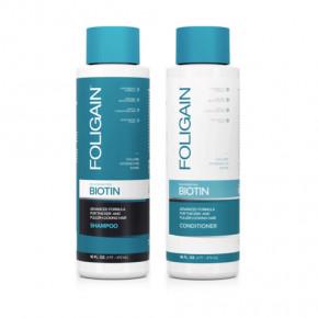 Foligain Rejuvenating Biotin Shampoo & Conditioner Atjaunojošs biotīna šampūns un kondicionieris