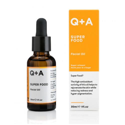 Q+A Super Food Facial Oil Nakts sejas eļļa 30ml