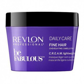 Revlon Professional Be Fabulous C.R.E.A.M. Daily Care Lightweight Maska plāniem matiem 200ml