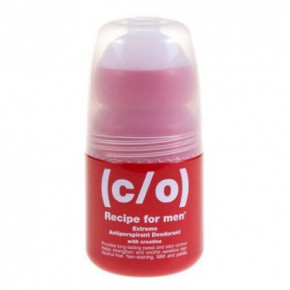 C/O Recipe For Men Extreme Antiperspirant Deodorant Antibakteriāls dezodorants – rullītis 60ml